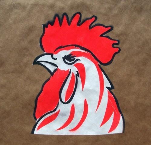 http://pamelacocconi.tumblr.com/ #stencil #illustration #cock