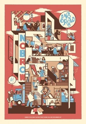 Nobrow – Jan Van Der Veken poster for Nobrow Catalogue #veken #flemish #ligne #van #der #comic #poster #jan #claire #nobrow