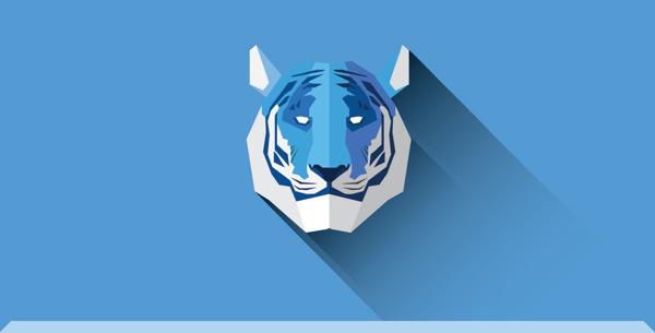 Flat animals | Part one on Behance #tiger