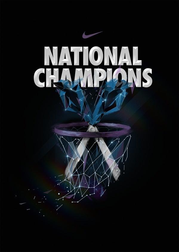 NIKE X NCAA on Behance #flare #bastekball #nike #type #net #typography