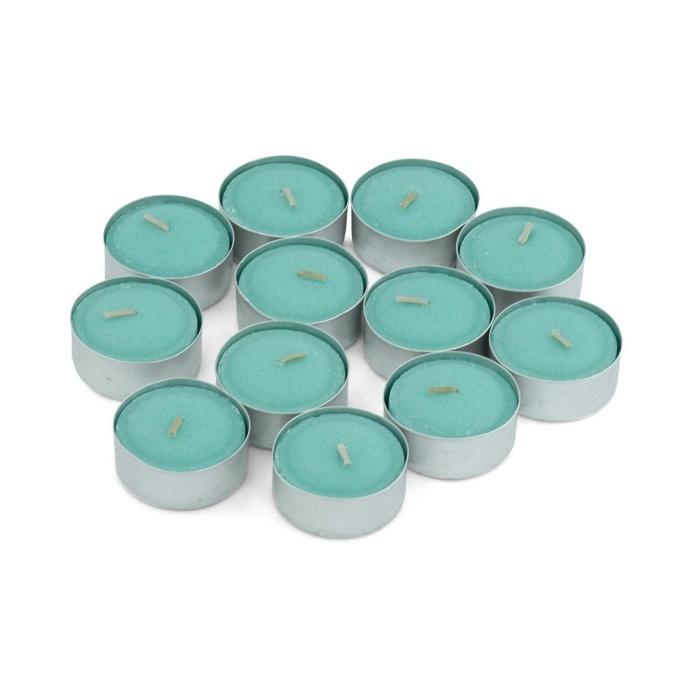 Gooseberry & Peach Scented Tea Light Candles, Pack of 12