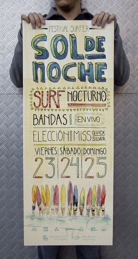 Sol de Noche on the Behance Network #festival #sol #de #noche #illustration #poster