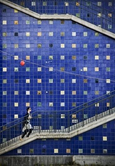 0414 by ~lassekorsgaard on deviantART #stairs #blue