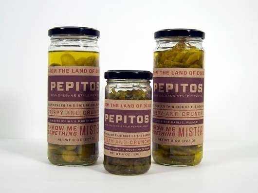 Dever Elizabeth #peppers #packaging #typography #forza #orleans #pickles #new