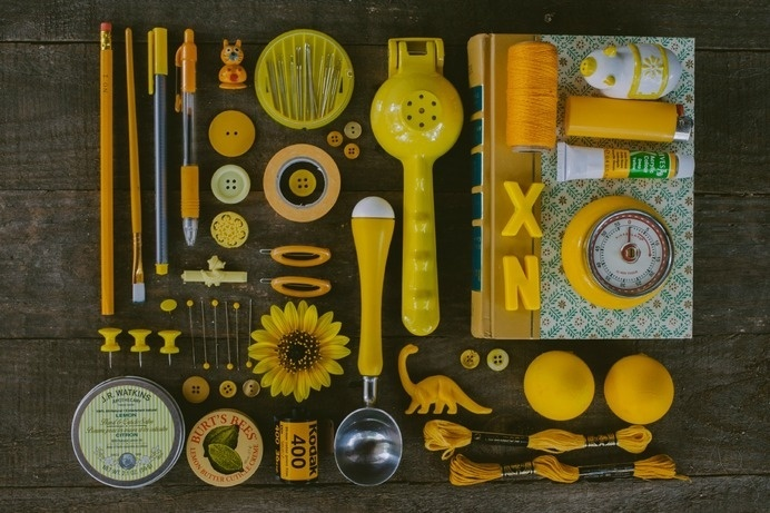 emilyblincoe: here are all of my yellow things. #organized #summer