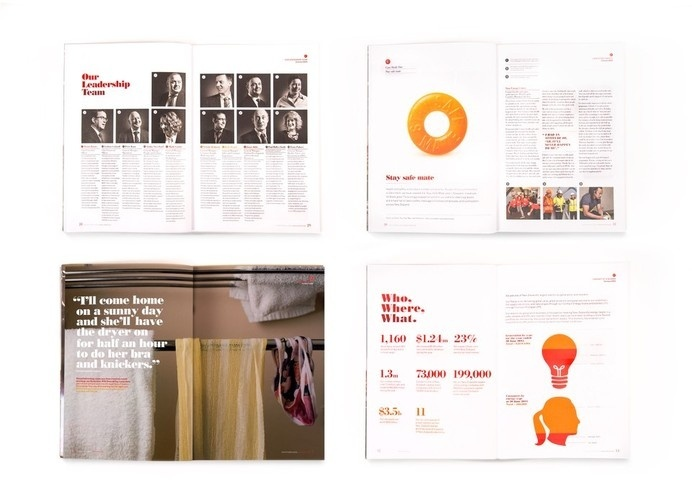 Best Awards - Designworks. / Contact Annual Report #print #layout #design #editorial
