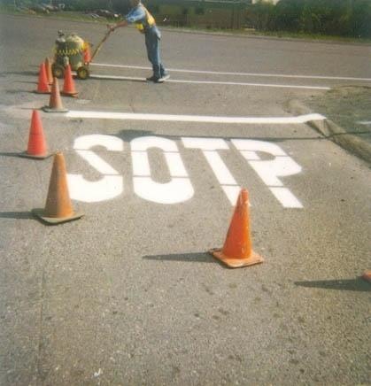SOTP-huge-white-misspelled-freshly-painted-stop-sign-on-road-ANON.jpg 419 × 436 pixler #sign #paint #stop