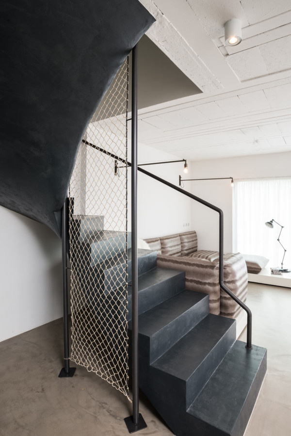 A Family Home with a Black & White Interior in main interior design Category