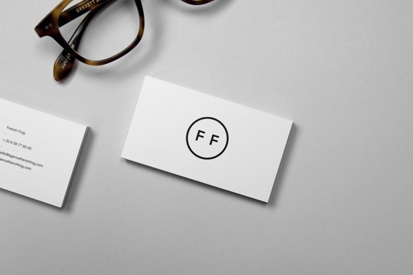 French Frog #white #business #card #simplicity #minimalism #black #and #cards