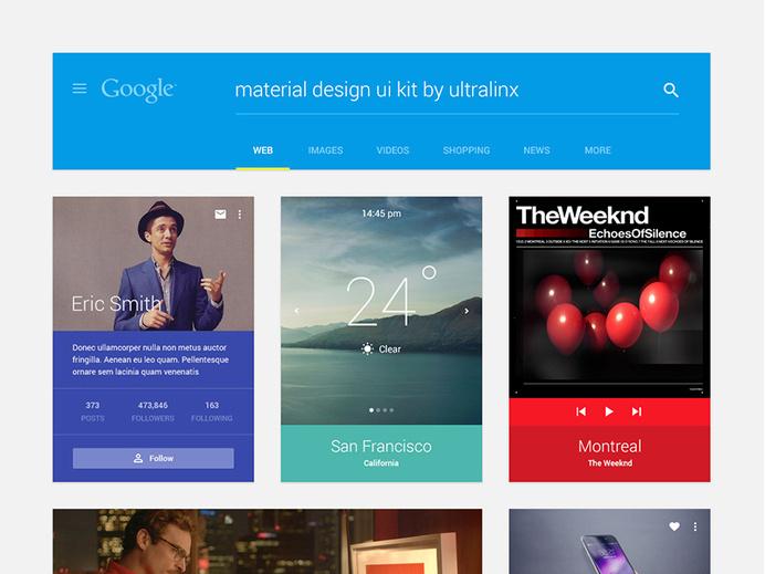 Material Design UI Kit PSD Free Download #ui