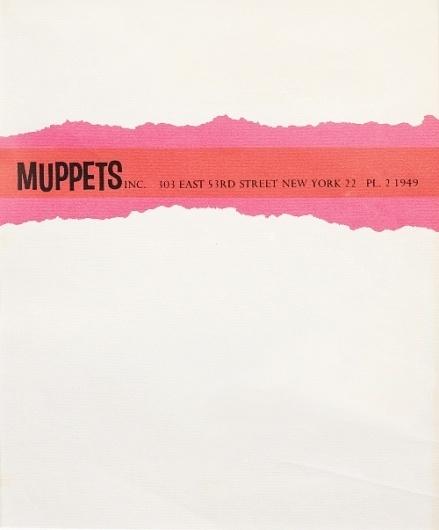 Muppet Music #muppets #letterhead #henson