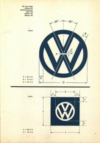 FFFFOUND! | Designspiration — Vintage VW Logo & Brand Specifications | your creative logo designer #logo