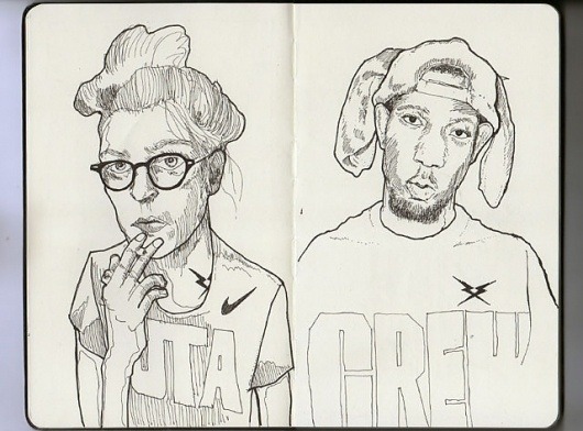 moleskine_03.jpg 640×474 pixels #glasses #smoke #girl #shop #moleskine #rap #hip #crew