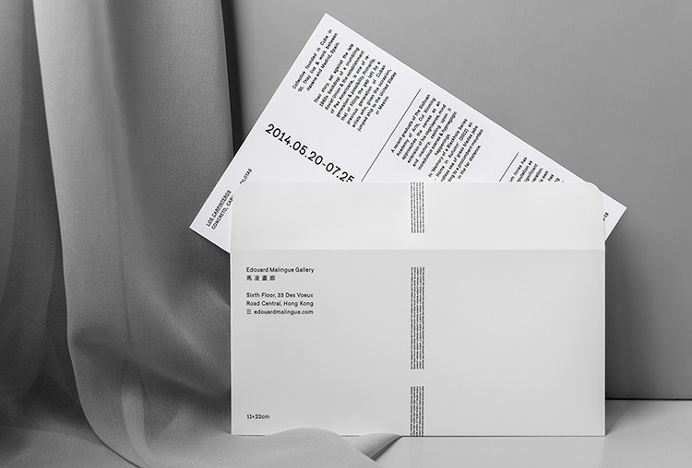 Edouard Malingue Gallery by Lundgren+Lindqvist #envelope #invite