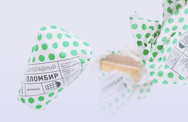 Gorky Park Icecream on Behance #pattern #branding #packaging #spots #cream #label #identity #ice