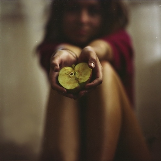 Apple, photography by Miroslav Zhivkov #apple #woman