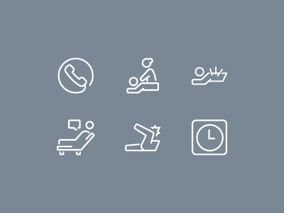 Kinetic Osteo Health Icons #massage #treatment #acupuncture #osteopath #clinic #icons #health