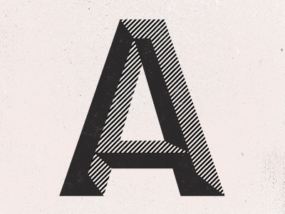 Dribbble A by Paul Price #typography