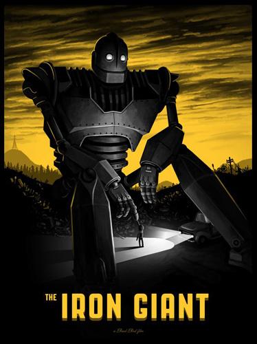 The Iron Giant - Mike Mitchell #giant #mike #mitchell #iron #illustration