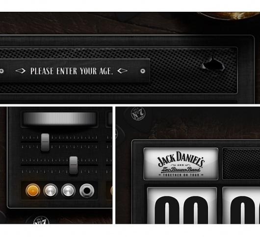 Jack Daniel's & Zac Brown Band - Daran Brossard Creative Co. / DBCCo. #filigree #design #pixel #daniels #app #jack #web