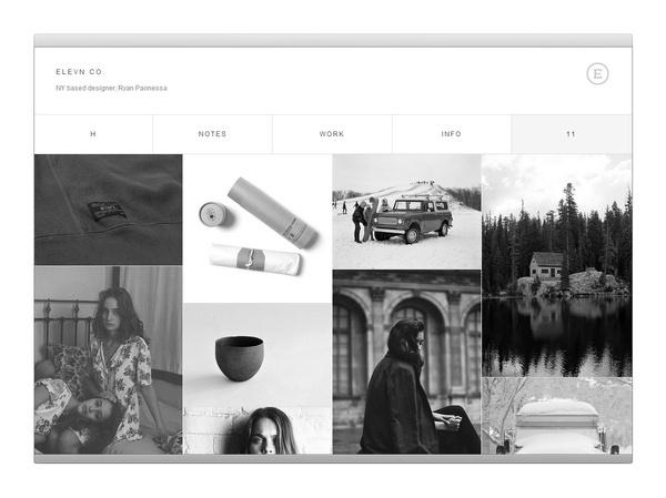 Elevn Co. / Elevn Co. Logos #white #design #minimalism #clean #website #grid #simple #mobile #web