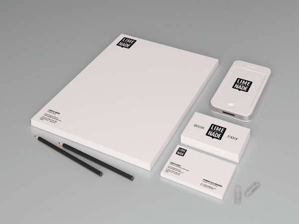 Lime & Nade Identity #stationary #business #card #design #letterhead