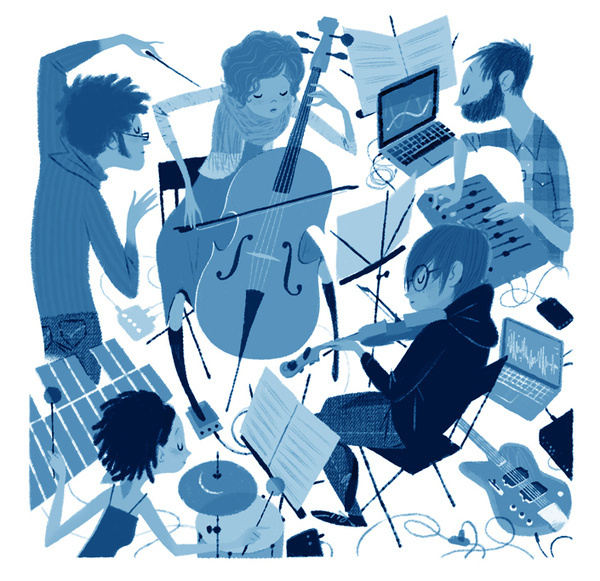 Leo Espinosa My first piece for The New Yorker #orchestra #yorker #illustration #music #new