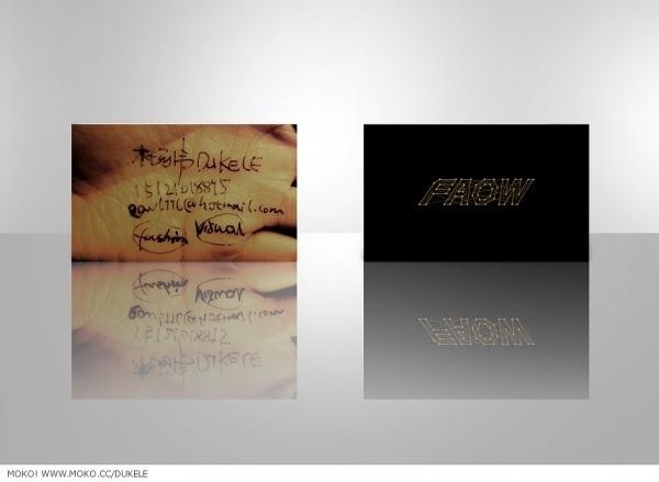 杜可乐FaOW's MOKO 个人网站 | 展示 DUKELE名片设计 #note #card #quick #name