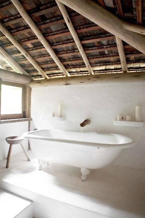 CJWHO ™ (Uxua Casa Hotel | White Classic Bathroom) #white #design #bathroom #wood #photography #luxury