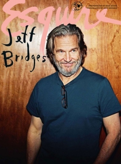 Stüf Stuff • The Dude can draw. More evidence that... #esquire #jeff #bridges #type #handlettered #magazine