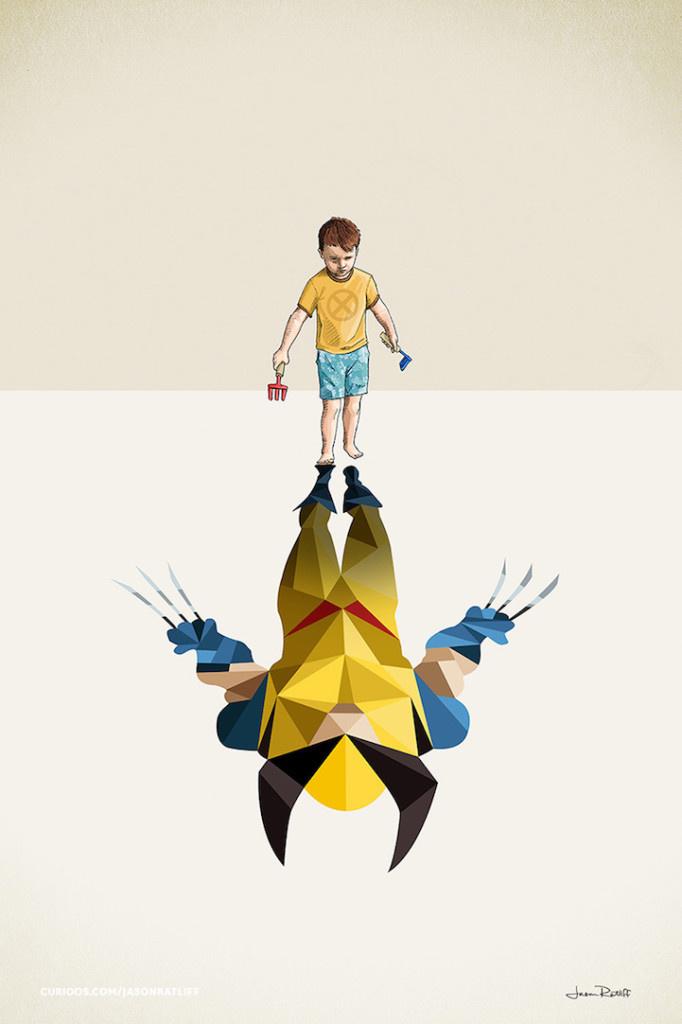 Creative Illustration of childhood imagination by Jason Ratliff #Illustrations #artwork #imagination #digital art #design