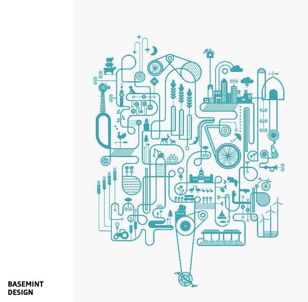 Artcrank Blue Edition par Basemint Design #vector #affiche #screenprint #artcrank #illustration #poster #art #bike