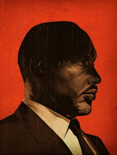 Tavis Coburn Portfolio #white #red #black #illustration #portrait #mlk