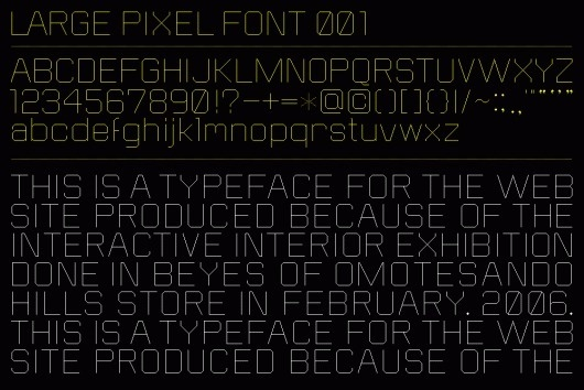 large_pixel_font_01.gif 1000×669 pixels #grid #typography