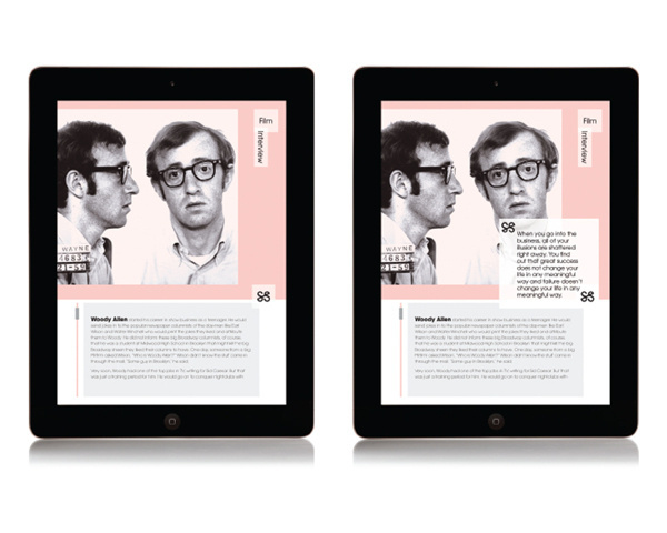 Dossier on Behance #layout #ipad #magazine