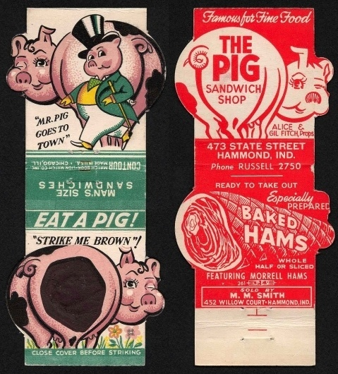 All sizes | Mr. Pig Goes to Town | Flickr - Photo Sharing! #logo #illustration #retro #vintage