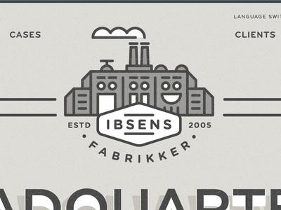 Ibsens Identity Website #line #building #work #factory #illustraiton