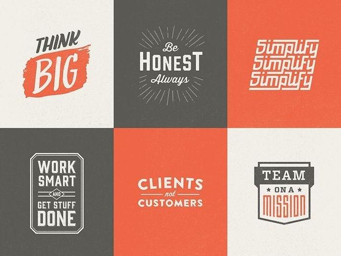 Core values logos by Brett Swihart #logo
