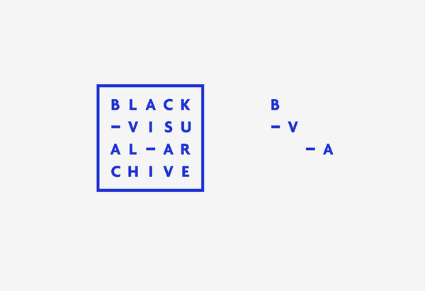 Logo by Fivethousand Fingers for Black Visual Archive, an on-line collection of critical texts on African American artists #archive #visual #black