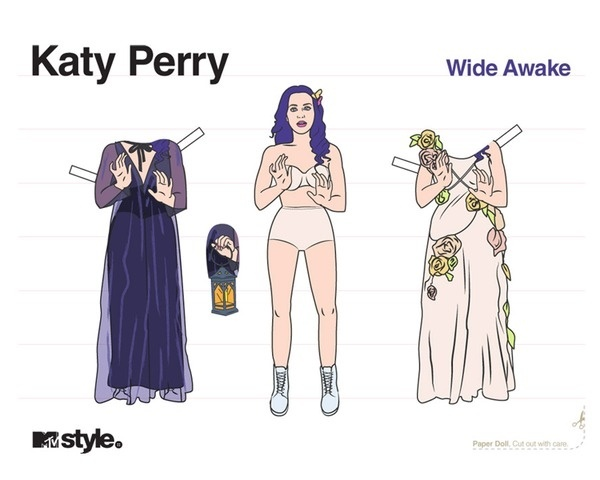 mtv style katy parry paper doll #cut #paperdoll #katy #perry #out #doll #diy #paper