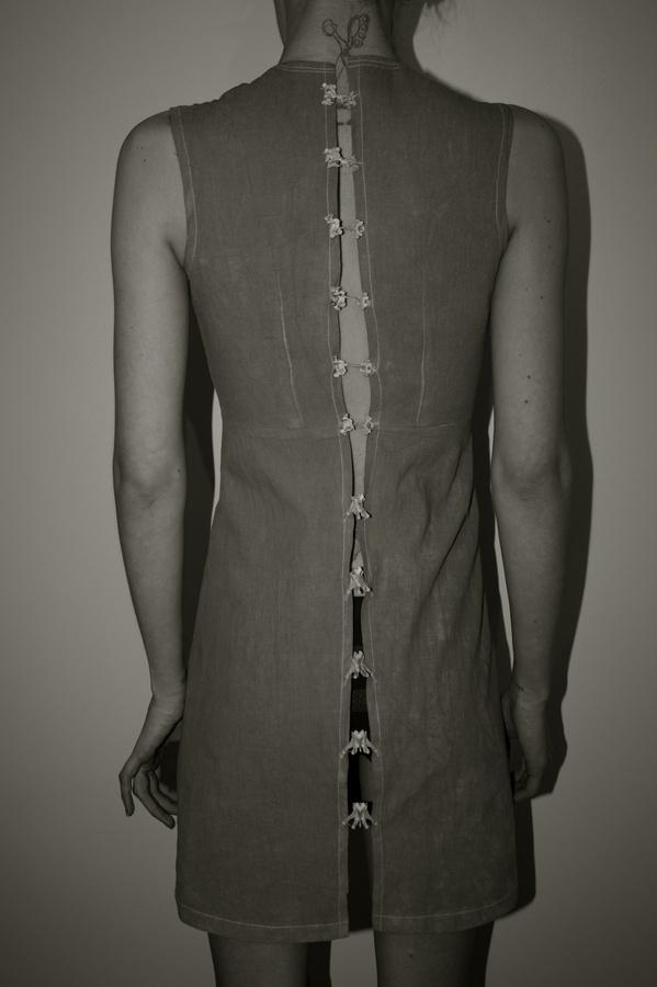 Rabbit Spine Dress | Freya Edmondson #skeleton #girl #design #bone #tattoo #back #dress #pine #fashion #rabbit