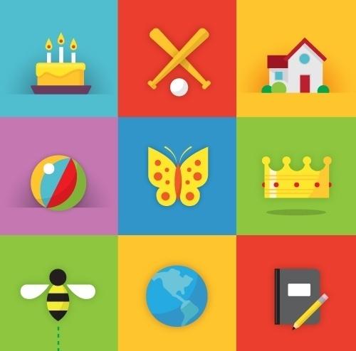 Matt Stevens // Creative Direction + Design - WORK BLOG - New Work:Â Tykoon #playful #bright #icons #education #app #energy #web