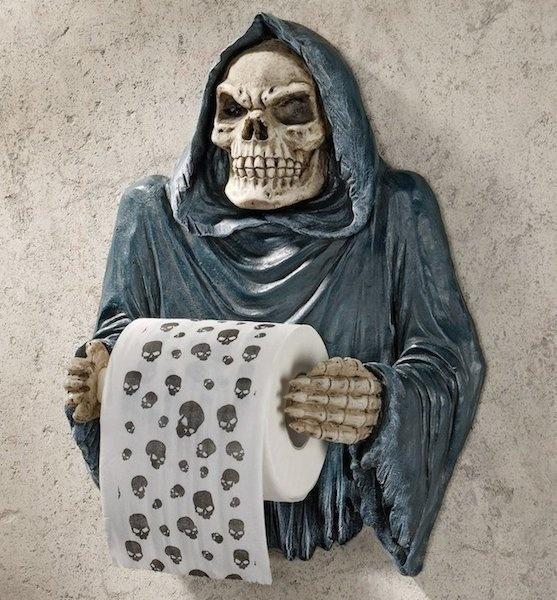 Grim Reaper Sculptural Bath Tissue Tyrant #halloween #home