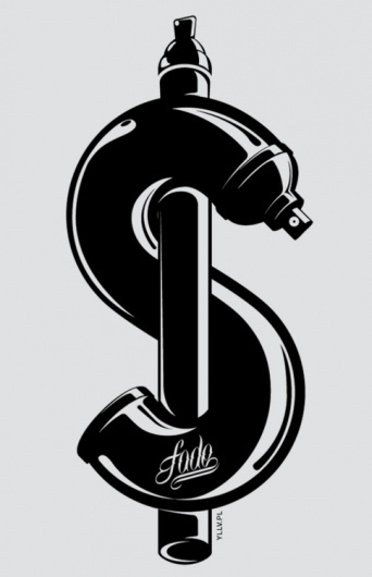 Typeverything.com - T-shirt design by Karol... - Typeverything #graphic design #logo #marker #spray