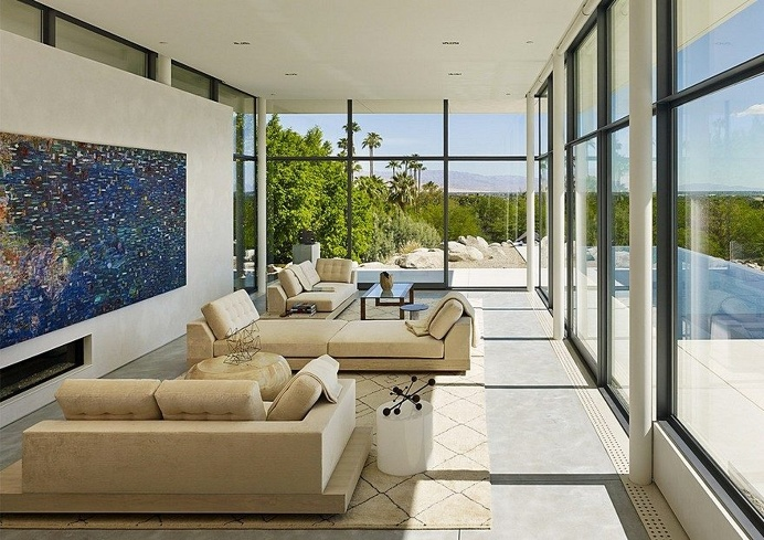 This Palm Springs House is Open to Expansive Mountain and Valley Panoramas 5