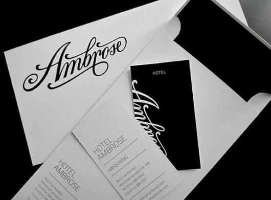 Onestep Creative - The Blog of Josh McDonald » Ambrose Hotel by Miklos Kiss #ambrose #script #branding #identity #hotel