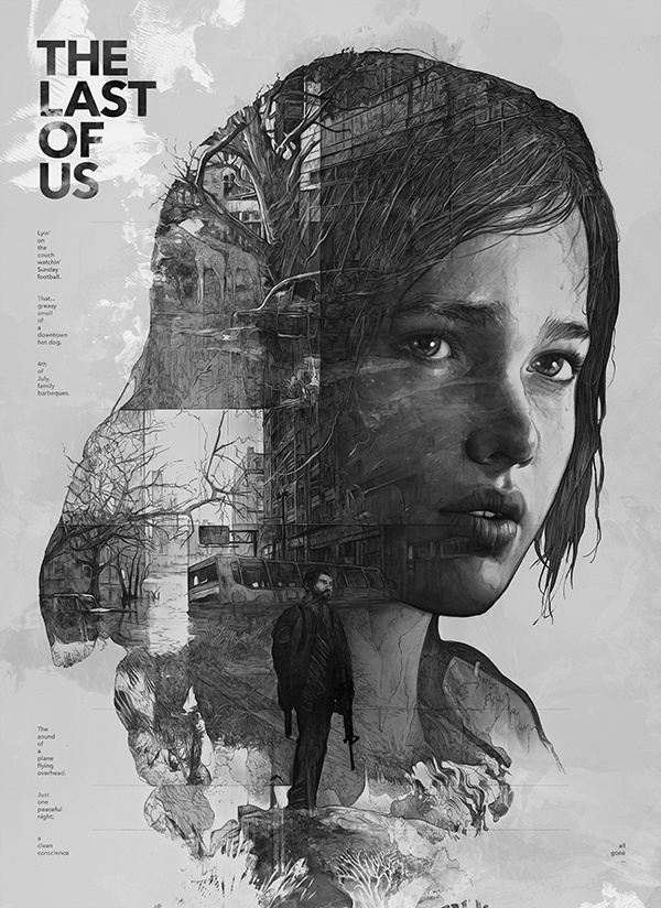 The Last of Us on Behance #video #illustration #portrait #poster #games #pencil #sketch