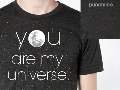 Dribbble - Punchline Tee by Jason Doring #universe #punchline #apparel #t #shirt #stars #moon
