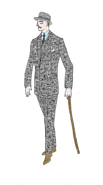 original illustrations for Max (June 2013) #formal #illustration #men #fashion #dress
