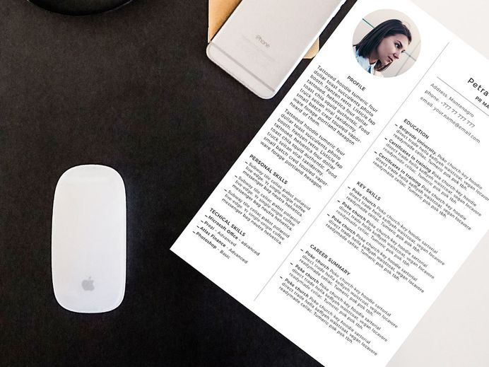 Free Simple CV Template with Clean and Professional Design